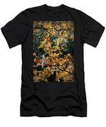 Fall Leaves Over Florida Pond Men's T-Shirt (Athletic Fit)