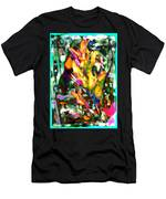 Flowers On Fire Men's T-Shirt (Athletic Fit)
