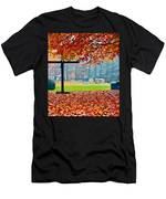 Foggy Autumn Cemetery Men's T-Shirt (Athletic Fit)