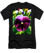 Fresh Face Pansy Men's T-Shirt (Athletic Fit)