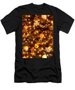 Glowing Golden Christmas Tree Men's T-Shirt (Athletic Fit)