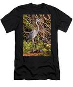 Great Blue Heron And Turtle Men's T-Shirt (Athletic Fit)