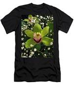 Green Orchid In Baby's Breath Men's T-Shirt (Athletic Fit)