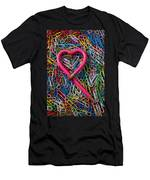 Heart Shaped Pink Pencil Men's T-Shirt (Athletic Fit)