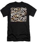 Jumbled Letters Men's T-Shirt (Athletic Fit)