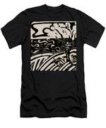 Land Sea Sky In Black And White Men's T-Shirt (Athletic Fit)