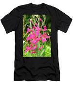 Magenta Flowers Men's T-Shirt (Athletic Fit)