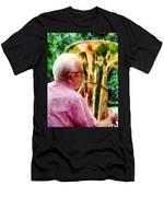 Man Playing Tuba Men's T-Shirt (Athletic Fit)