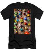 Marbles On Wooden Board Men's T-Shirt (Athletic Fit)