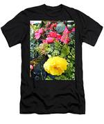 Mixed Ranunculus In A Hanging Basket Men's T-Shirt (Athletic Fit)