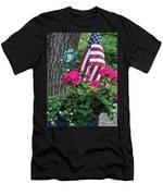 Mom's Pink Geranium  Men's T-Shirt (Athletic Fit)