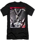 Motorcycle Engine Chrome Men's T-Shirt (Athletic Fit)