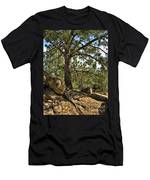 Pine Tree And Rocks Men's T-Shirt (Athletic Fit)