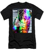 Psychedelic Black Lab With Kerchief Men's T-Shirt (Athletic Fit)