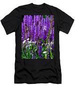 Purple Lavender Flower In Bloom  Men's T-Shirt (Athletic Fit)