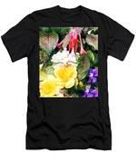 Rainbow Flower Basket Men's T-Shirt (Athletic Fit)