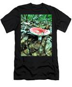 Red And White Wild Mushroom Men's T-Shirt (Athletic Fit)