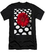 Red Mum With White Spots Men's T-Shirt (Athletic Fit)