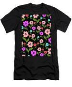 Retro Florals Men's T-Shirt (Athletic Fit)