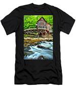 River Rock And A Grist Mill Men's T-Shirt (Athletic Fit)