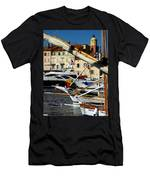 Saint Tropez Harbor Men's T-Shirt (Athletic Fit)