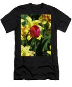 Single Red Tulip Men's T-Shirt (Athletic Fit)