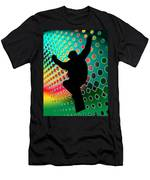 Snowboard In Cosmic Snowstorm Men's T-Shirt (Athletic Fit)