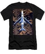 Space Shuttle Piggyback Men's T-Shirt (Athletic Fit)