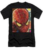 Spider-man Movie Marvel Mosaic Men's T-Shirt (Athletic Fit)