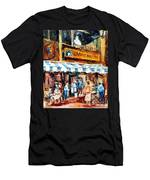 St. Denis And Prince Arthur Montreal Cafe Scene Men's T-Shirt (Athletic Fit)