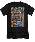 Street Lane In Dubrovnik Croatia Men's T-Shirt (Athletic Fit)