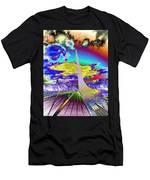 Sun Dial Bridge Redding Ca   Men's T-Shirt (Athletic Fit)
