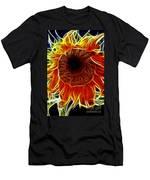 Sunflower Fractal Men's T-Shirt (Athletic Fit)