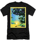 Sunset With Leaves Men's T-Shirt (Athletic Fit)
