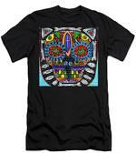 Talavera Sugar Skull Owl Men's T-Shirt (Athletic Fit)