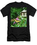 Tiger Swallowtail By The Bird Feeder  Men's T-Shirt (Athletic Fit)