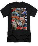Toronto Pop Art Montage Men's T-Shirt (Athletic Fit)