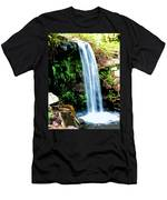 Tropical Waterfall And Pond Men's T-Shirt (Athletic Fit)
