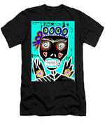Turquoise Queen Sugar Skull Angel Men's T-Shirt (Athletic Fit)