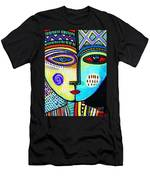Turquoise Sky Goddess Men's T-Shirt (Athletic Fit)
