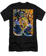 Twin Flowers Men's T-Shirt (Athletic Fit)