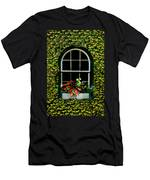Window On An Ivy Covered Wall Men's T-Shirt (Athletic Fit)