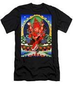 Red Jambhala  1 Men's T-Shirt (Athletic Fit)