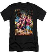 Beautiful Image Of Krishna And Radhe From Boise Hare Krishna Temple Men's T-Shirt (Athletic Fit)