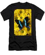 Black And Blue Butterfly Men's T-Shirt (Athletic Fit)