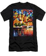 Castle By The River Men's T-Shirt (Athletic Fit)