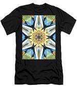 Golden Flower Abstract Men's T-Shirt (Athletic Fit)