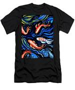 Koi Fish In Ribbons Of Water Men's T-Shirt (Athletic Fit)
