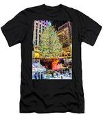 New York City Christmas Tree Men's T-Shirt (Athletic Fit)