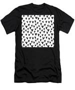 Seamless Pattern With Hand Drawn Hearts.  Men's T-Shirt (Athletic Fit)